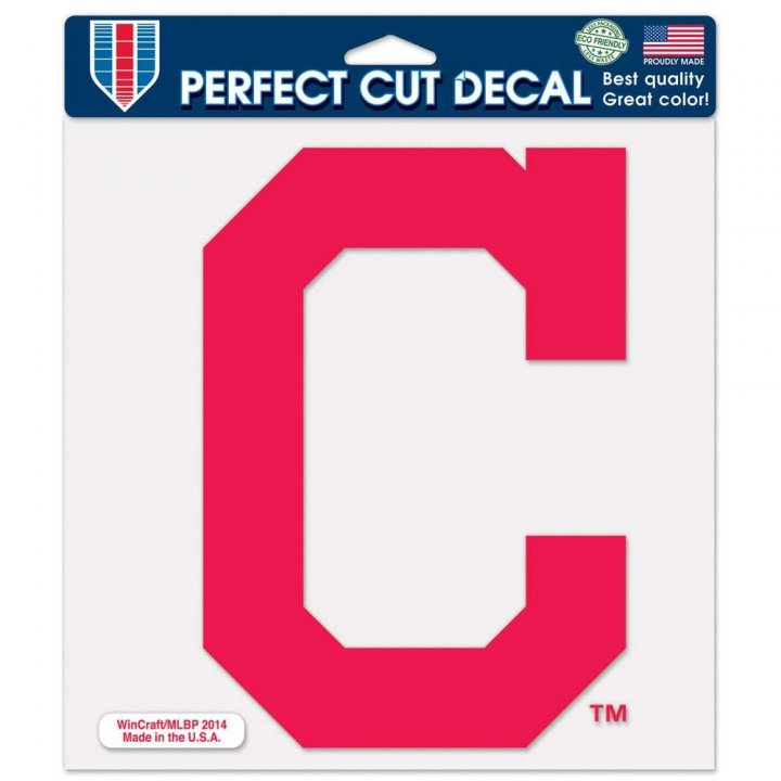 Cleveland Indians 8in Die Cut Decal