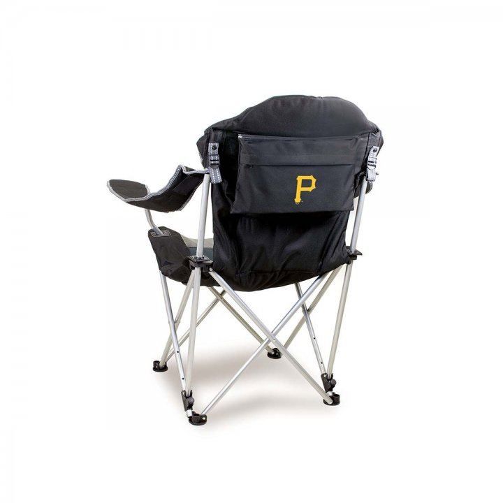 Pittsburgh Pirates Reclining Camp Chair (Black)