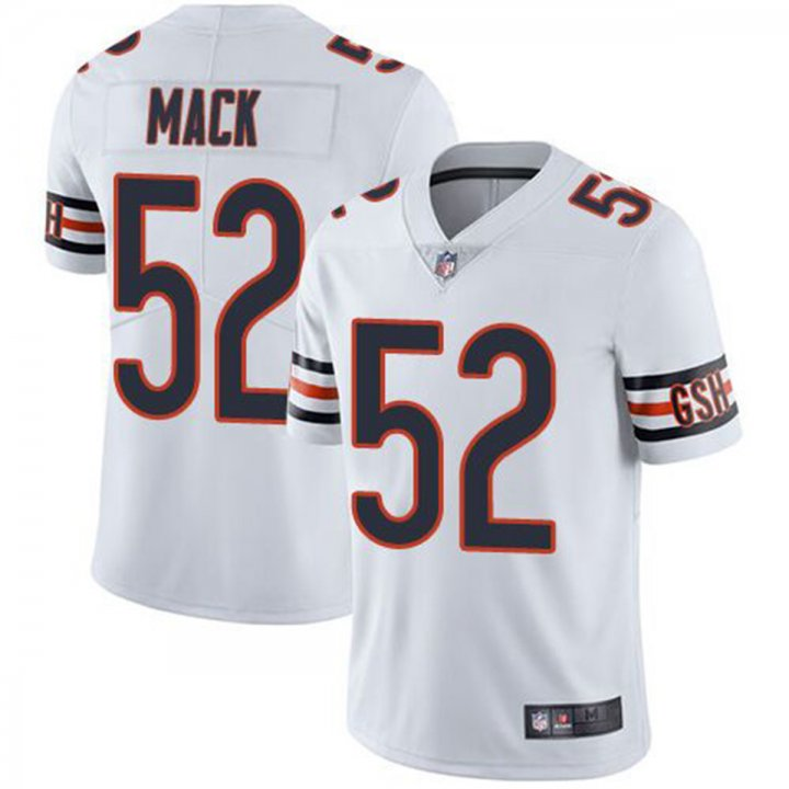 Franklin Sports Men's Chicago Bears #52 Khalil Mack White Jersey