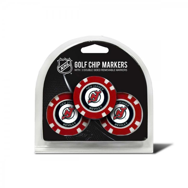 New Jersey Devils Golf Ball Markers 3 Pack