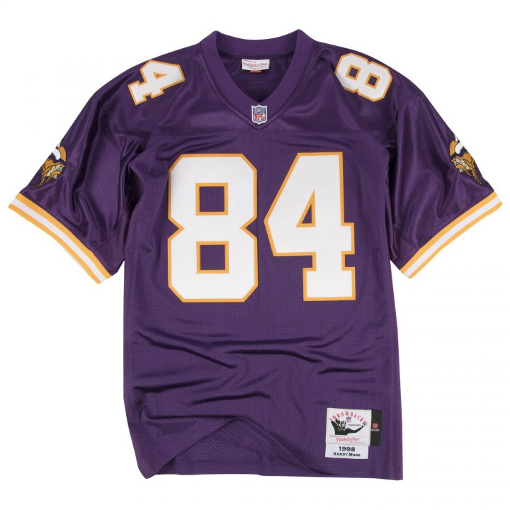 Franklin Sports Men's Randy Moss #84 1998 Minnesota Vikings Jersey Purple