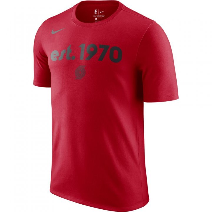Portland Trail Blazers NBA City Edition T-Shirt (Red)