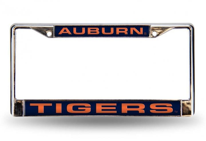 Auburn Tigers NCAA Laser Chrome License Plate Frame