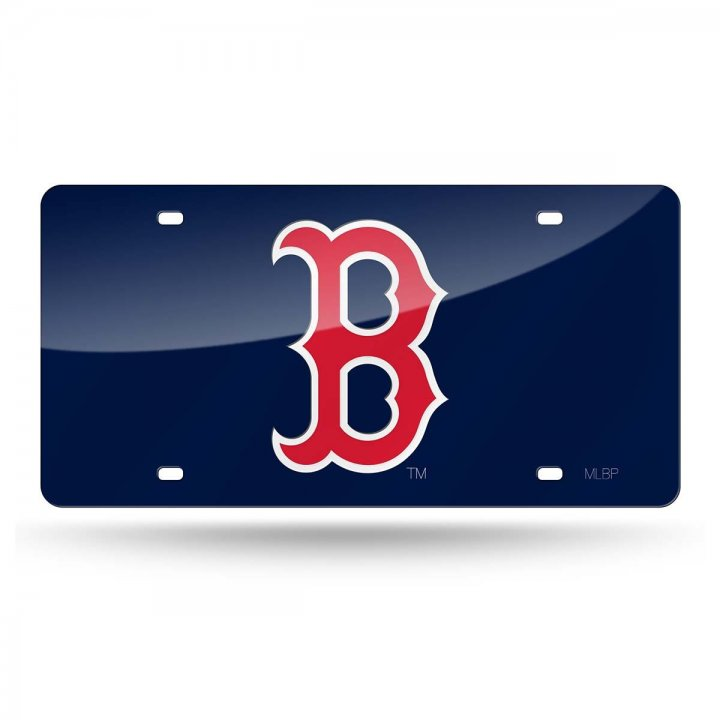 Boston Red Sox MLB Laser Cut License Plate Tag