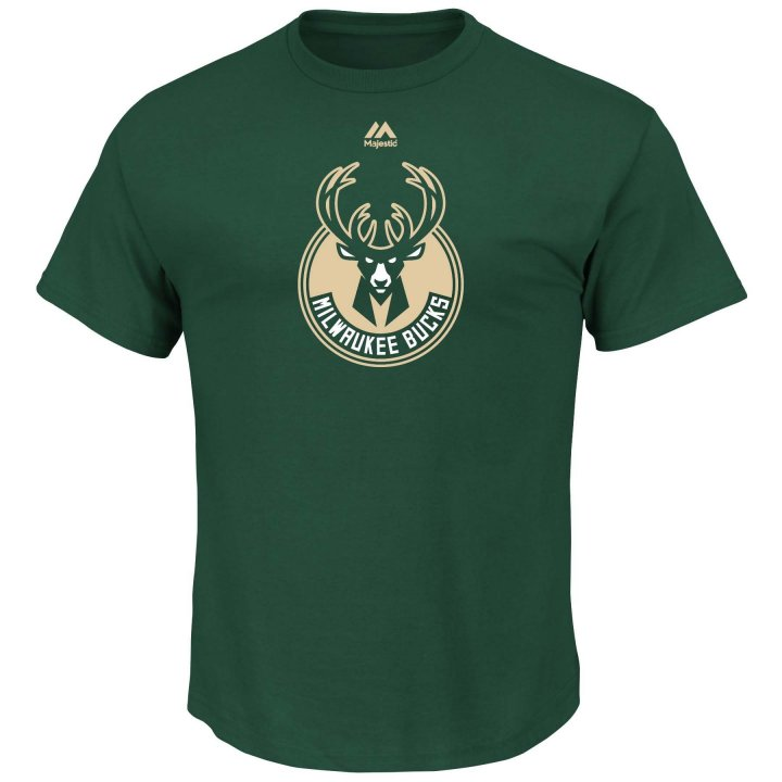 Milwaukee Bucks Logo T-Shirt (Green)