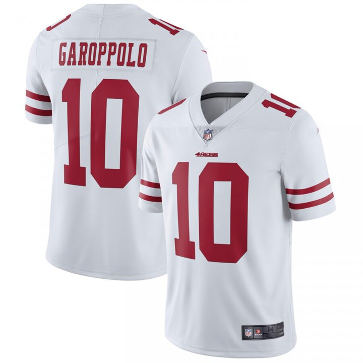 Franklin Sports Men's Jimmy Garoppolo #10 San Francisco 49ers Limited Jersey - White