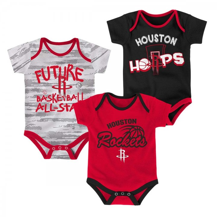 Houston Rockets NBA 3 Piece Body Suit (Red)