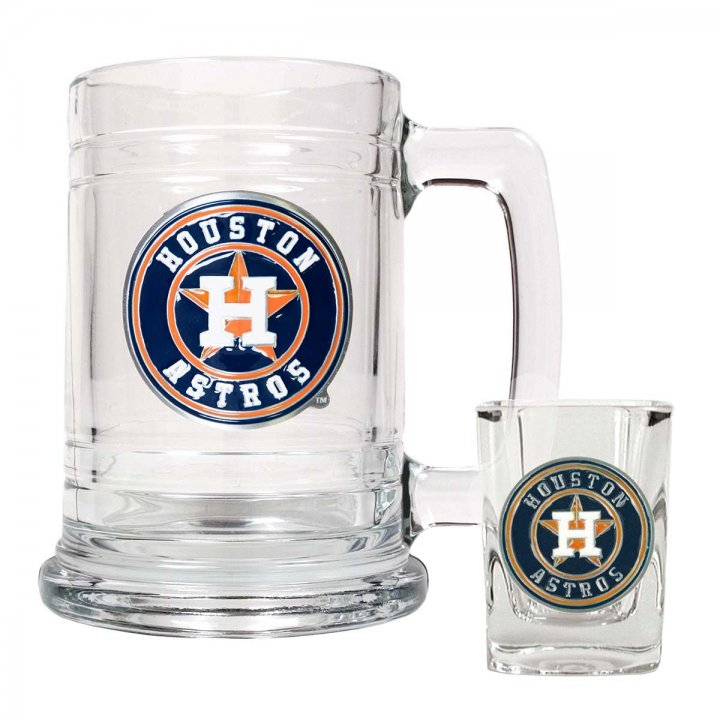 Houston Astros MLB Boilermaker Set (Clear)