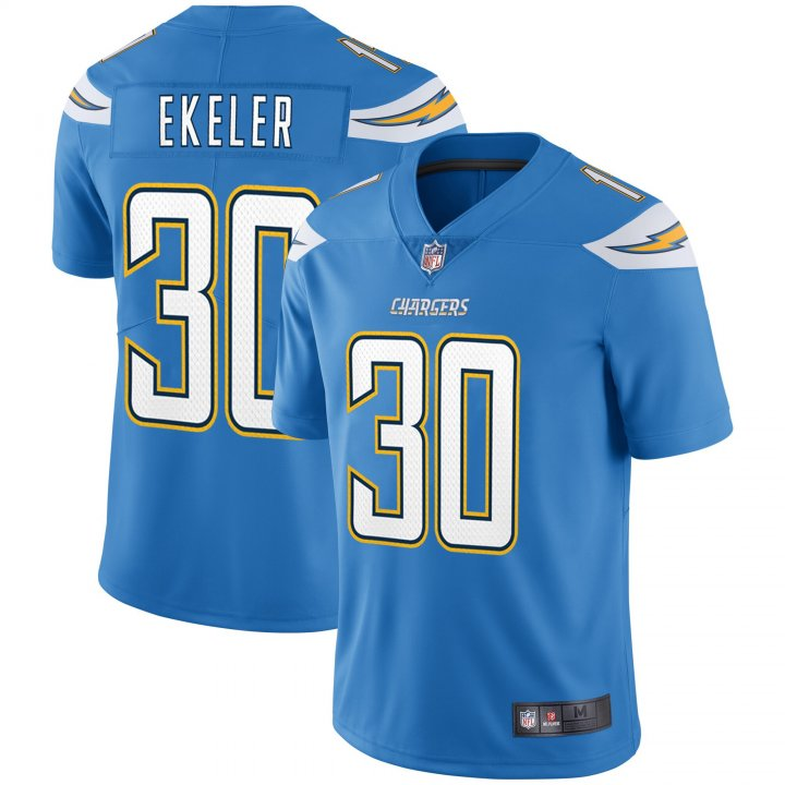 Franklin Sports Men's Austin Ekeler #30 Los Angeles Chargers NFL Pro Line Alternate Player Jersey - Powder Blue