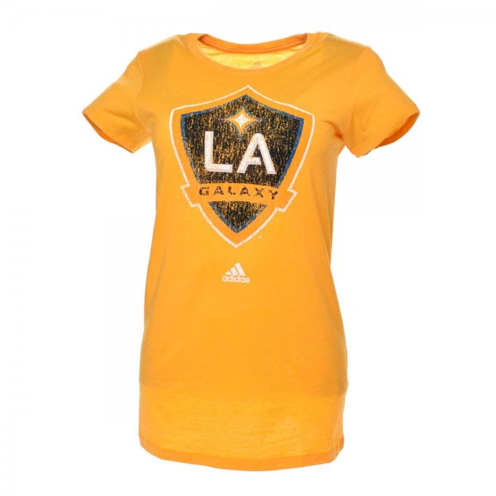 Los Angeles Galaxy MLS Full Color Primary Cap Sleeve Tee (Yellow)