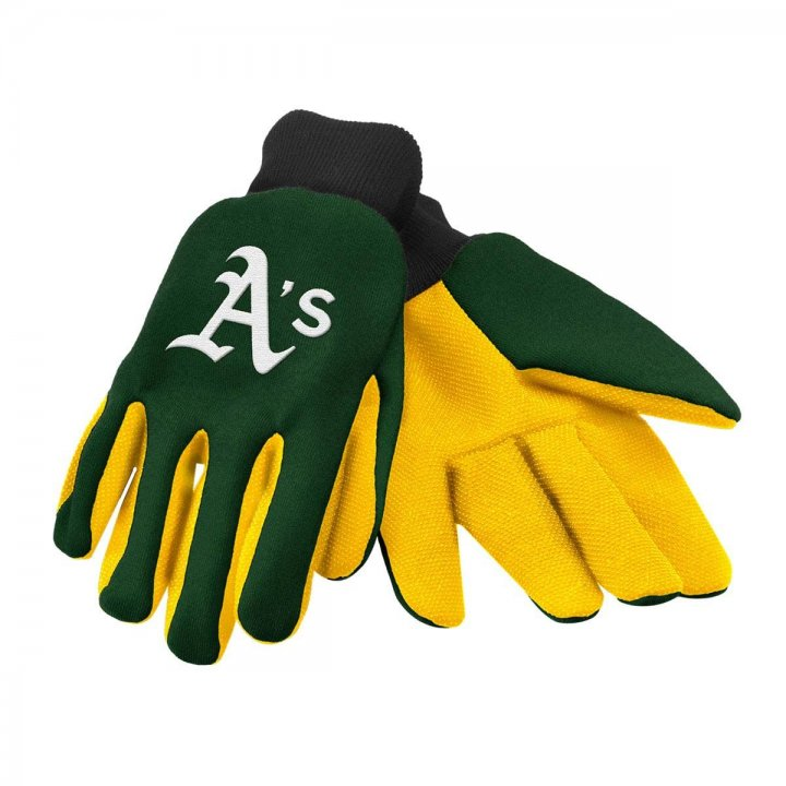 Oakland Athletics Two Color Work Gloves