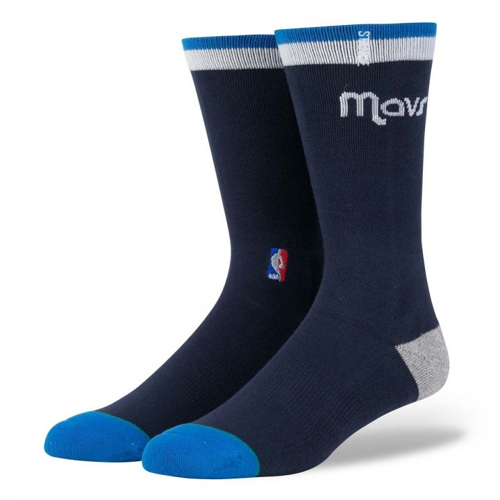 Stance, Inc Dallas Mavericks Arena Logo Socks (Navy)