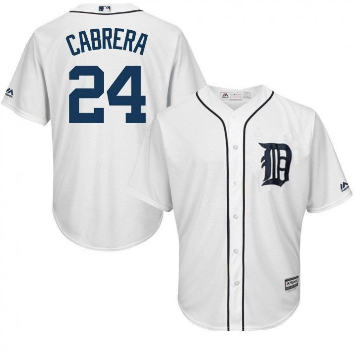 VF Detroit Tigers MLB Majestic Mens Cool Base Miguel Cabrera White Jersey Big & Tall Sizes