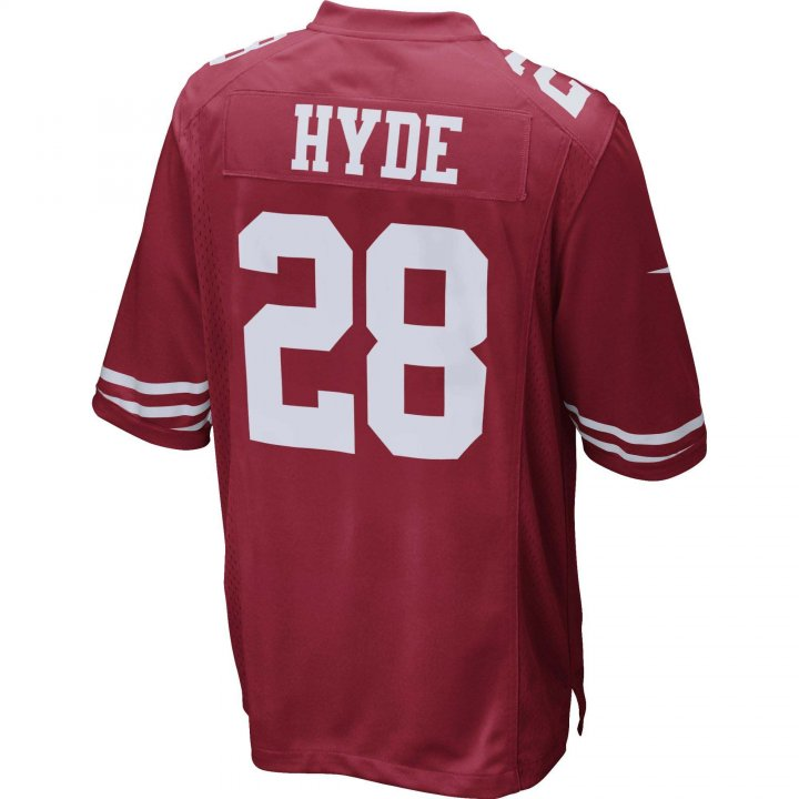 Carlos Hyde San Francisco 49ers Nike Game Jersey (Red)