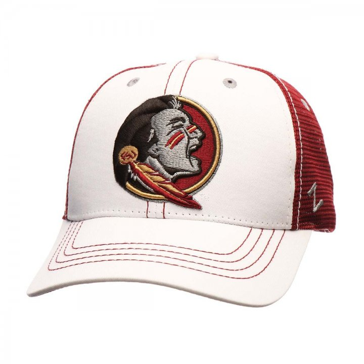 Florida State Seminoles Zephyr NCAA Whiteboard Snapback Hat (White)