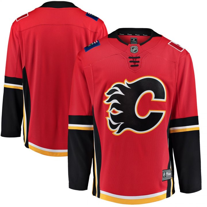 Calgary Flames NHL Mens Home Breakaway Jersey (Red)