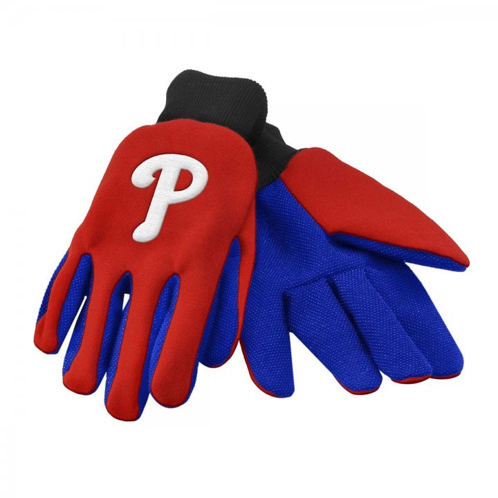 Philadelphia Phillies Colored Palm Utility Gloves