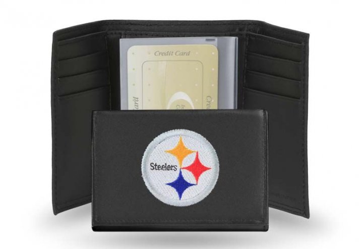 Pittsburgh Steelers NFL Leather Wallet (Black)