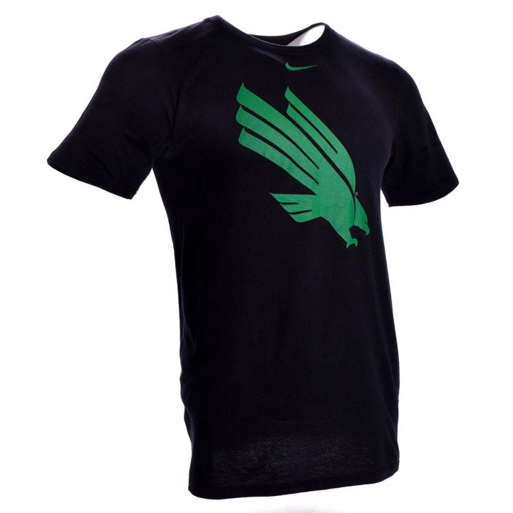 North Texas Mean Green Primary Logo T-Shirt (Black)