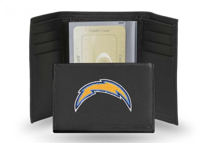 Los Angeles Chargers NFL Leather Wallet (Black)