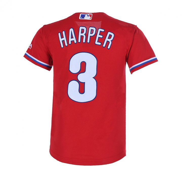 Outerstuff Youth 8-20 Bryce Harper Philadelphia Phillies Base Player Jersey Red