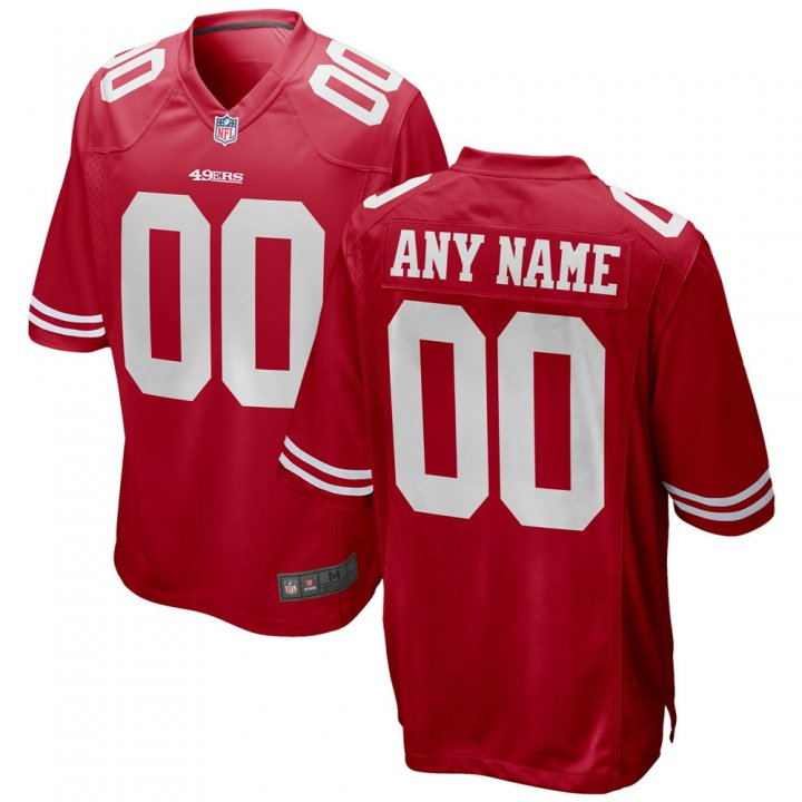 VF Men Youth Kids San Francisco 49ers Custom Any Name Number Embroidery Jersey Red