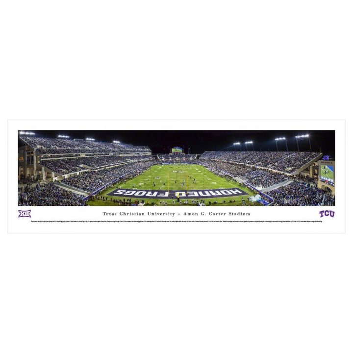 TCU Horned Frogs End Zone Unframed Panorama