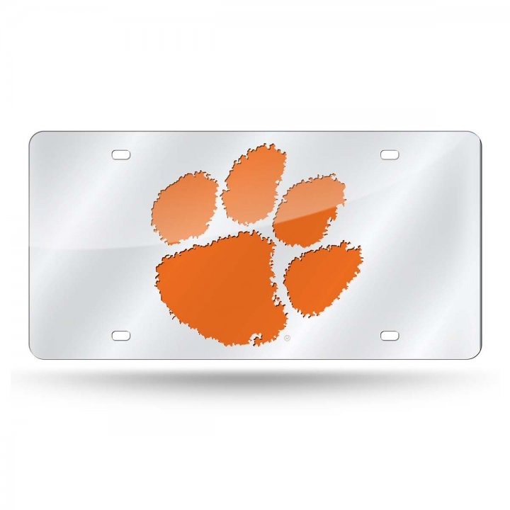 Clemson Tigers NCAA Alternate Laser Cut License Plate Tag