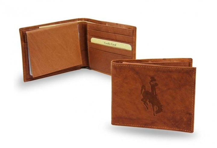 Wyoming Cowboys Embossed Leather Billfold