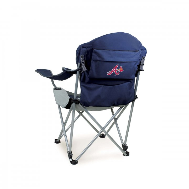 Atlanta Braves Reclining Camp Chair (Navy)