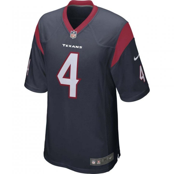 Houston Texans NFL Deshaun Watson Nike Game Jersey (Navy)