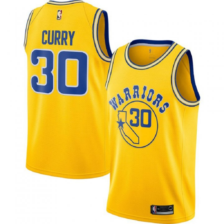 Majestic Athletic Men's Stephen Curry Golden State Warriors Swingman #30 Jersey-Gold