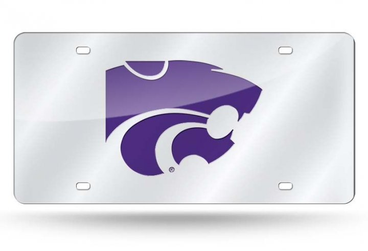Kansas State Wildcats NCAA Alternate Laser Cut License Plate Tag