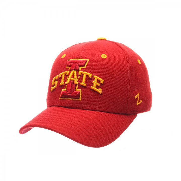 Iowa State Cyclones Zephyr NCAA Dh Fitted Hat (Maroon)
