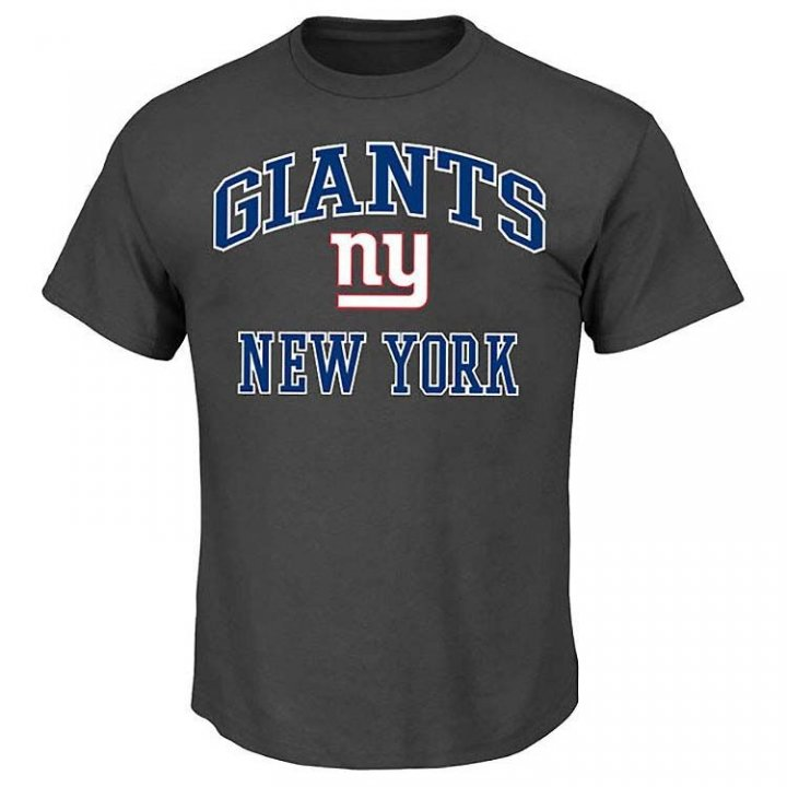 New York Giants Big & Tall Heart And Soul III T-Shirt (Charcoal)