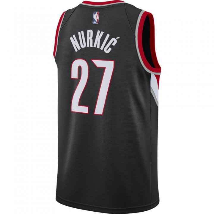 Portland Trail Blazers NBA Jusuf Nurkic Icon Swingman Jersey (Black)