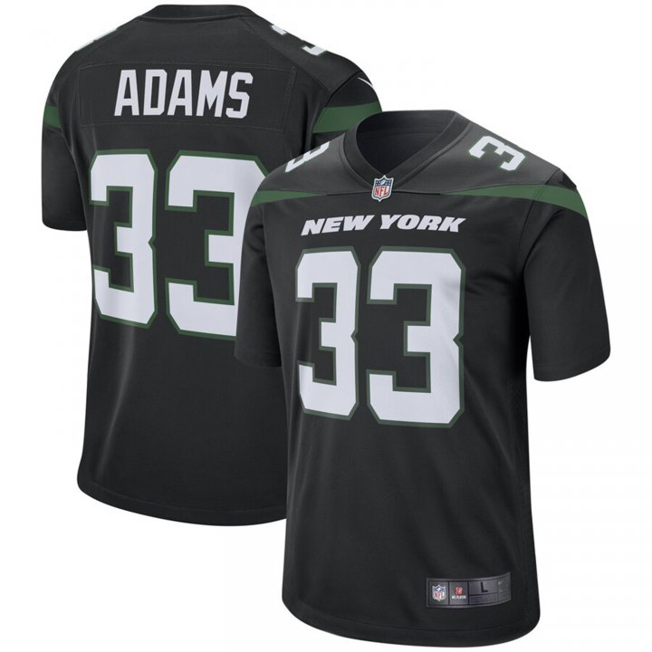 Franklin Sports Men's Jamal Adams #33 New York Jets Game Jersey - Stealth Black