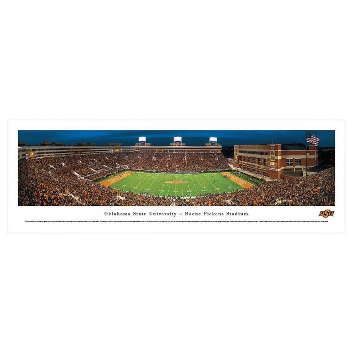 Oklahoma State Cowboys 50 Yard Line Unframed Panorama