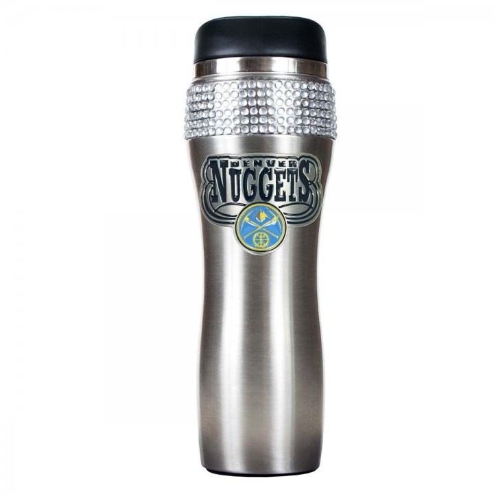 Denver Nuggets NBA Denver Nuggets Stainless Steel Bling Travel Tumbler (Silver)