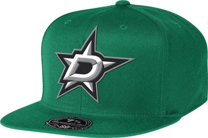 Dallas Stars Mitchell & Ness NHL Solid Hc Fit Hat (Green)