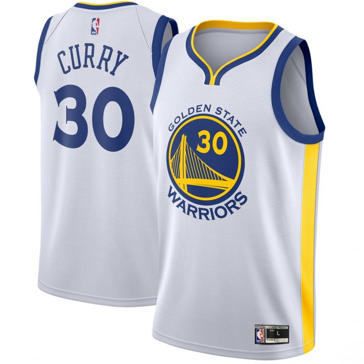 Franklin Sports Youth Kids 30 Stephen Curry Golden State Warriors Jersey White