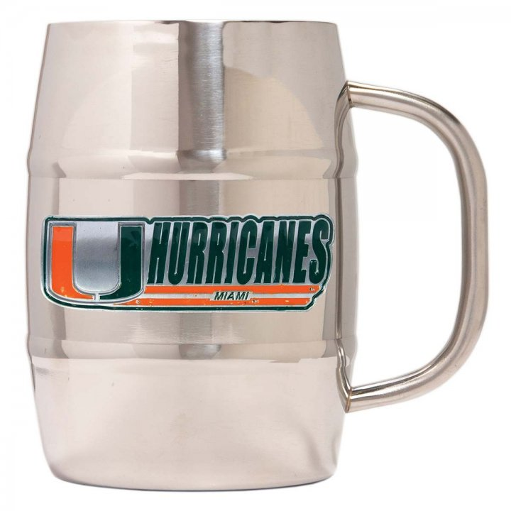 Miami Hurricanes Miami Hurricanes 32 oz Double Wall Stainless Steel Mug