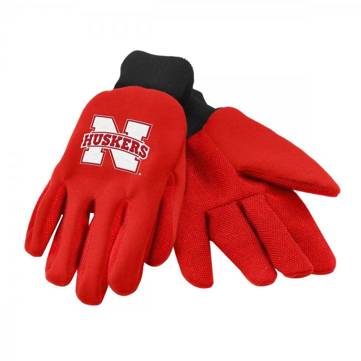Nebraska Cornhuskers Two Color Work Gloves