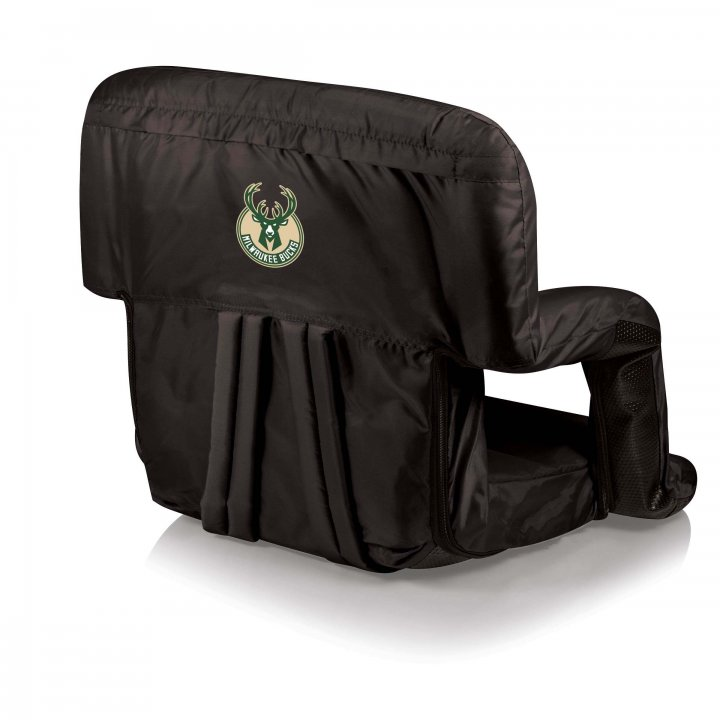 Milwaukee Bucks Ventura Seat Portable Recliner Chair (Black)
