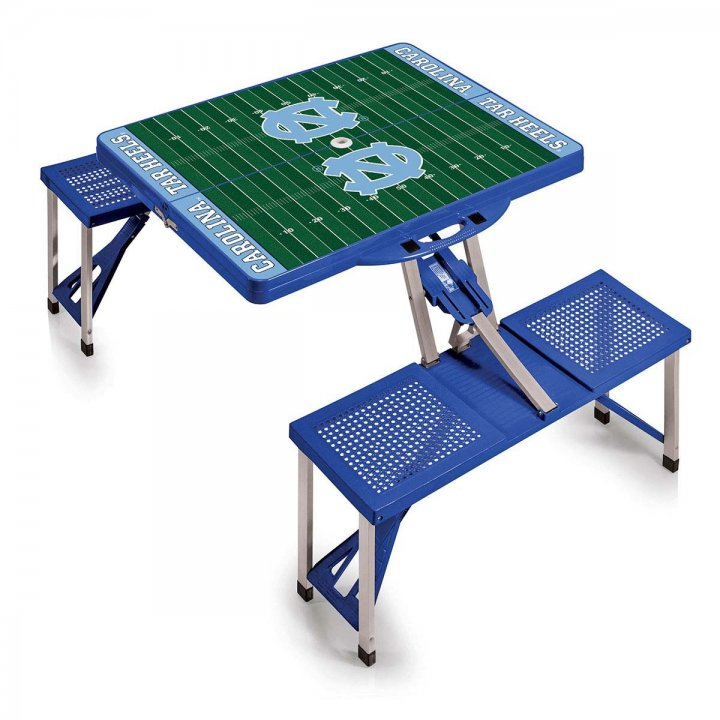North Carolina Tar Heels Portable Picnic Table with Sports Field Design