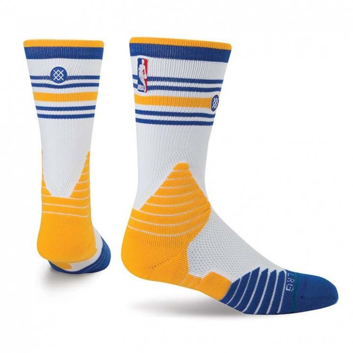 Stance Golden State Warriors Core Crew Socks (White)