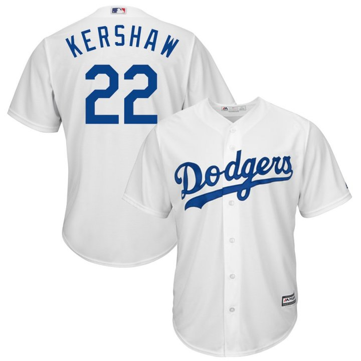 Outerstuff Youth Kids 22 Clayton Kershaw Los Angeles Dodgers Baseball Jersey White