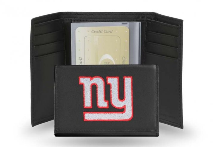 New York Giants NFL Leather Wallet (Black)