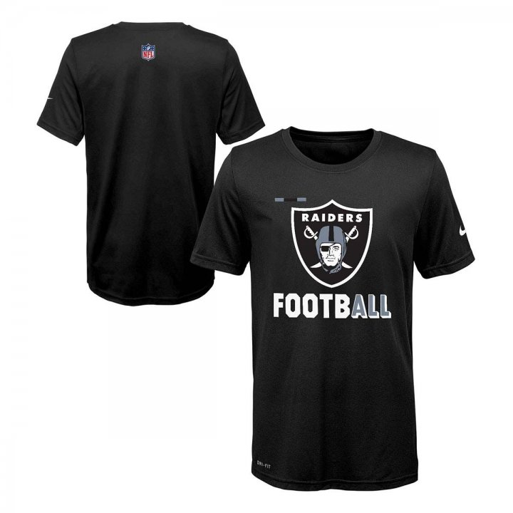 Oakland Raiders NFL Youth Legend Football Tee (Black)