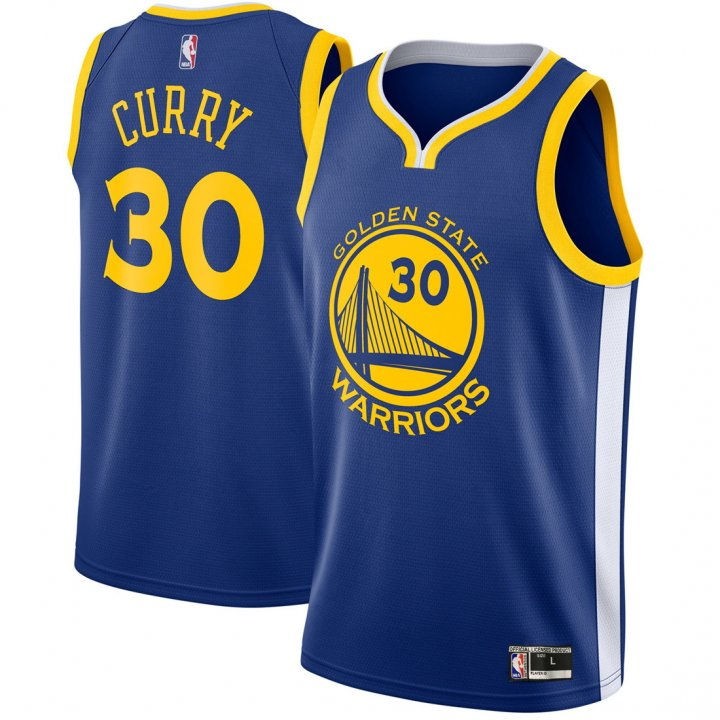 Franklin Sports Youth Kids 30 Stephen Curry Golden State Warriors Jersey Royal Blue